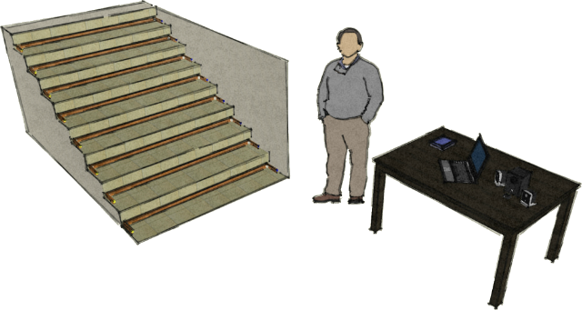 Plan for portable musical staircase